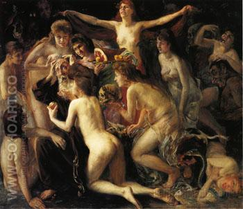 The Temptation of Saint Anthony - Lovis Corinth reproduction oil painting