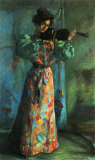 The Violinist 1900 - Lovis Corinth reproduction oil painting
