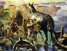 Trojan Horse - Lovis Corinth