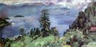 Walchensee Panorama Blick von Der Kanzel - Lovis Corinth