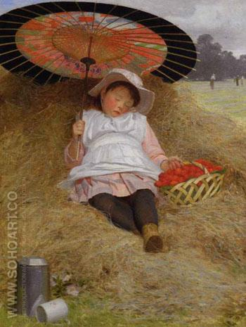 In the Hayfield - Jessica Hayllar reproduction oil painting