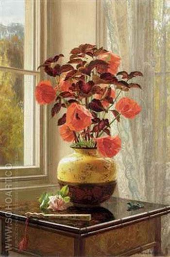 Oriental Poppies - Jessica Hayllar reproduction oil painting