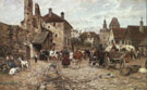 Market Day - Karl Stuhlmuller reproduction oil painting