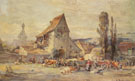 The Cattle Market In Dachau - Karl Stuhlmuller reproduction oil painting