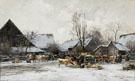Winterlicher Viehmarkt In Bayern - Karl Stuhlmuller