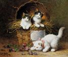 A Basket of Mischief - Leon Charles Huber