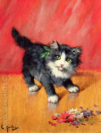An Innocent Look - Leon Charles Huber reproduction oil painting
