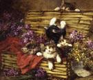 Kittens Play - Leon Charles Huber