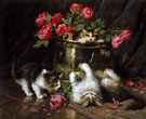 Playful Kittens A - Leon Charles Huber