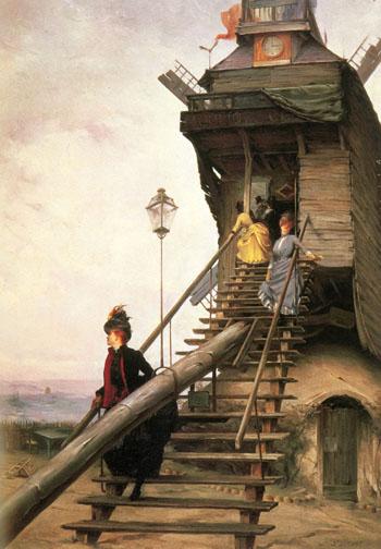 Moulin de La Galette - Paul Francois Quinsac reproduction oil painting