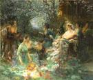 Scene Japonisante 1895 - Paul Francois Quinsac