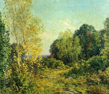 Approaching Autumn 1918 - Willard Leroy Metcalfe reproduction oil painting