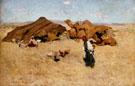 Arab Encampment Biskra 1887 - Willard Leroy Metcalfe