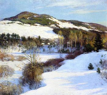 Cornish Hills 1911 - Willard Leroy Metcalfe reproduction oil painting