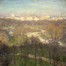 Early Spring Afternoon Central Park 1911 - Willard Leroy Metcalfe