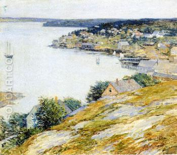 East Boothbay Harbor 1904 - Willard Leroy Metcalfe reproduction oil painting