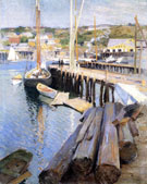 Fish Wharves Gloucester 1896 - Willard Leroy Metcalfe