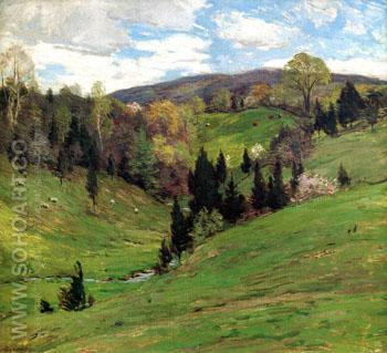 Flying Shadows B c1909 - Willard Leroy Metcalfe reproduction oil painting