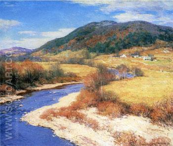 Indian Summer Vermont 1822 - Willard Leroy Metcalfe reproduction oil painting