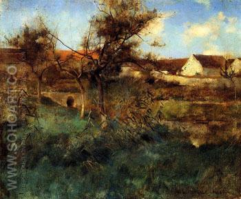 Landscape - Willard Leroy Metcalfe reproduction oil painting