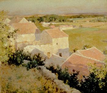 Midsummer Twilight 1888 - Willard Leroy Metcalfe reproduction oil painting