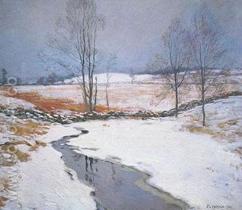 The First Snow 1906 - Willard Leroy Metcalfe reproduction oil painting