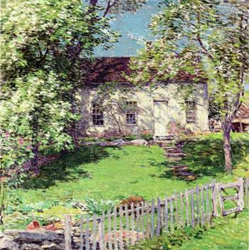 The Little White House - Willard Leroy Metcalfe reproduction oil painting