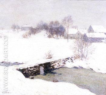 The White Mantle 1906 - Willard Leroy Metcalfe reproduction oil painting