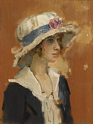 A Girl in A Summer Hat - Isaac Israels reproduction oil painting