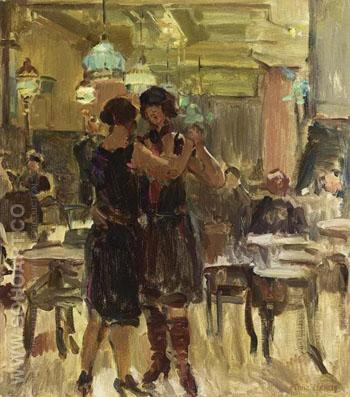 At the Scala Cafe the Hague - Isaac Israels reproduction oil painting