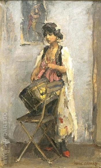 De Trommelslaagster - Isaac Israels reproduction oil painting