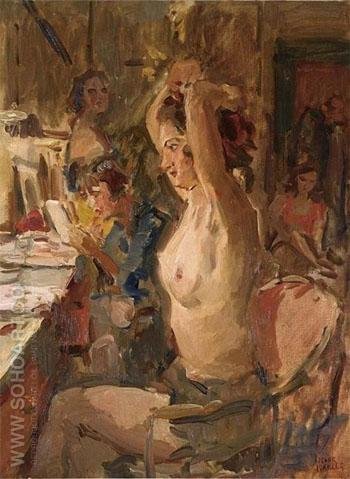In the Dressing Room of the Scala Theatre the Hague - Isaac Israels reproduction oil painting