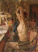 In the Dressing Room of the Scala Theatre the Hague - Isaac Israels