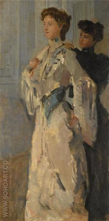 Les Essayeuses - Isaac Israels reproduction oil painting
