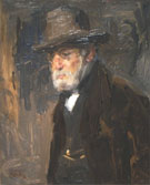 Portrait Father Jozef Israels - Isaac Israels