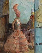 Revue Girls in the Scala Theatre the Hague - Isaac Israels reproduction oil painting