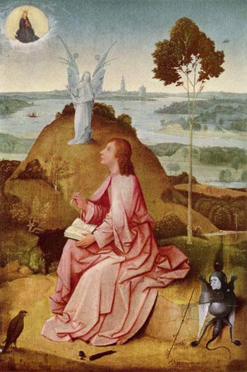 Saint John the Evangelist on Patmos - Hieronymus Bosch reproduction oil painting