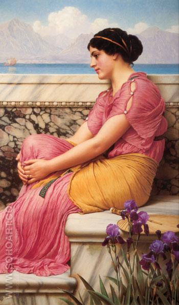 Absence Makes the Heart Grow Fonder 1912 - John William Godward reproduction oil painting