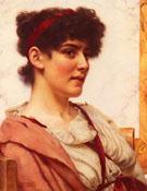 A Classical Beauty en Face - John William Godward