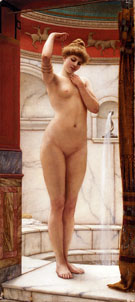 A Pompeian Bath 1890 - John William Godward