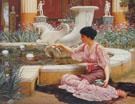 A Pompeian Garden 1904 - John William Godward reproduction oil painting