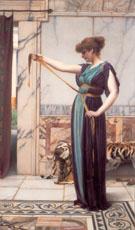 A Pompeian Lady 1891 - John William Godward reproduction oil painting