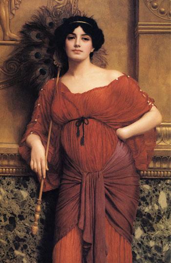 A Roman Matron 1905 - John William Godward reproduction oil painting