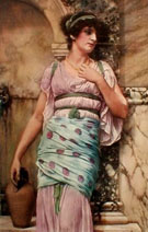 At the Fountain - John William Godward