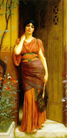 At the Garden Door - John William Godward