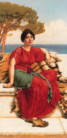 By The Blue Ionian Sea 1916 - John William Godward