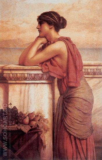 By The Wayside 1912 - John William Godward reproduction oil painting