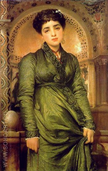 Girl in Green - John William Godward reproduction oil painting