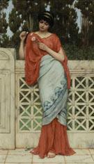 He Loves Me Loves Me Not 1896 - John William Godward reproduction oil painting