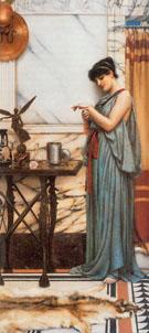 His Birthday Gift 1889 - John William Godward reproduction oil painting